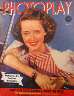 Photoplay August 1940 Bette Davis
