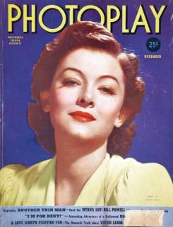 Photoplay December 1939 Myrna Loy