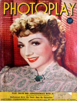 Photoplay February 1939 Claudette Colbert