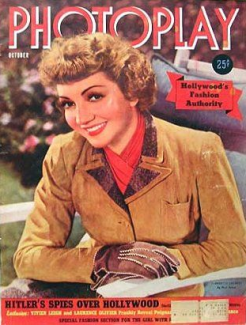 Photoplay October 1940 Claudette Colbert