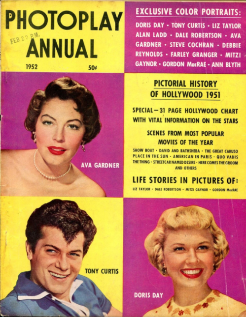 Photoplay Annual 1952 Tony Curtis Ava