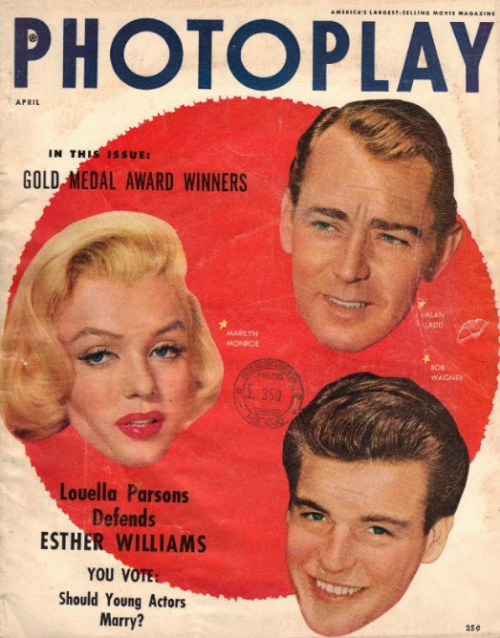 Photoplay April 1954 Monroe ladd Wagner