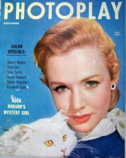 Photoplay November 1953 Piper Laurie Persian Cat